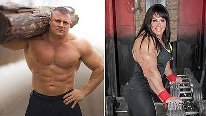 Lực sĩ nam 100kg, vô địch sức mạnh hành tinh 'biến' thành phụ nữ