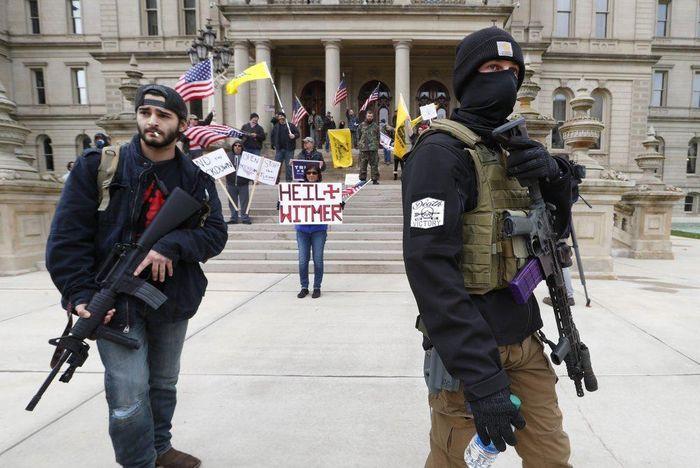 Michigan biểu tình đòi mở cửa 52d652462805c15b9814