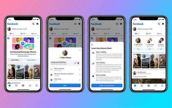 Facebook chính thức ra mắt 'Messenger Rooms', hỗ trợ họp trực tuyến lên đến 50 người