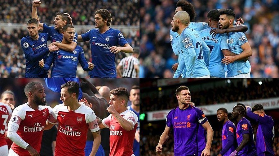 Bảng xếp hạng Premier League 2018/2019 sau vòng 11: Cuộc đua 'tam mã'