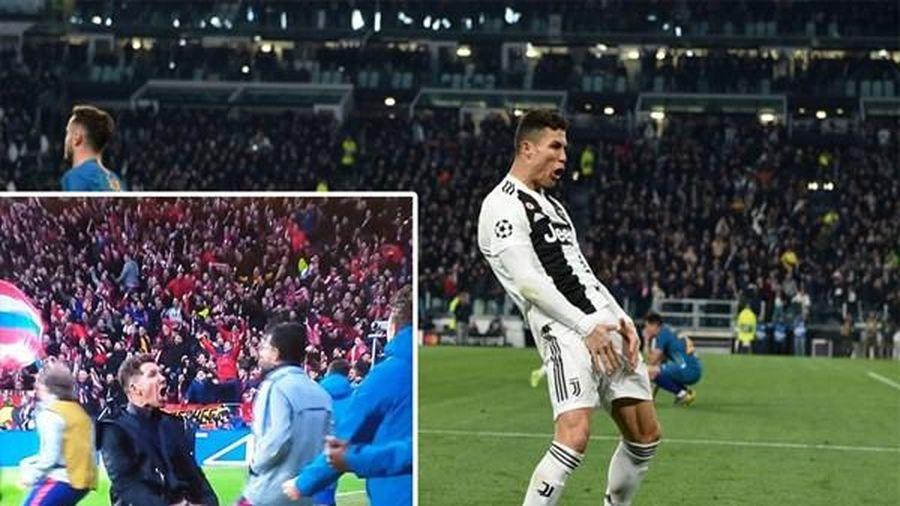 VIDEO: Ronaldo trả đũa hành vi của HLV Simeone cực gắt